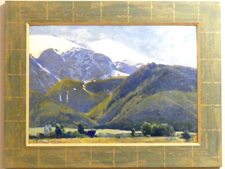 Tadeusz Popiel: Das Tal Dolina Strążyska in den Liptauer Alpen (Westtatra), 1907