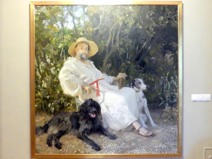 Tadeusz Styka: Porträt des Vaters des Künstlers in Garches, 1908