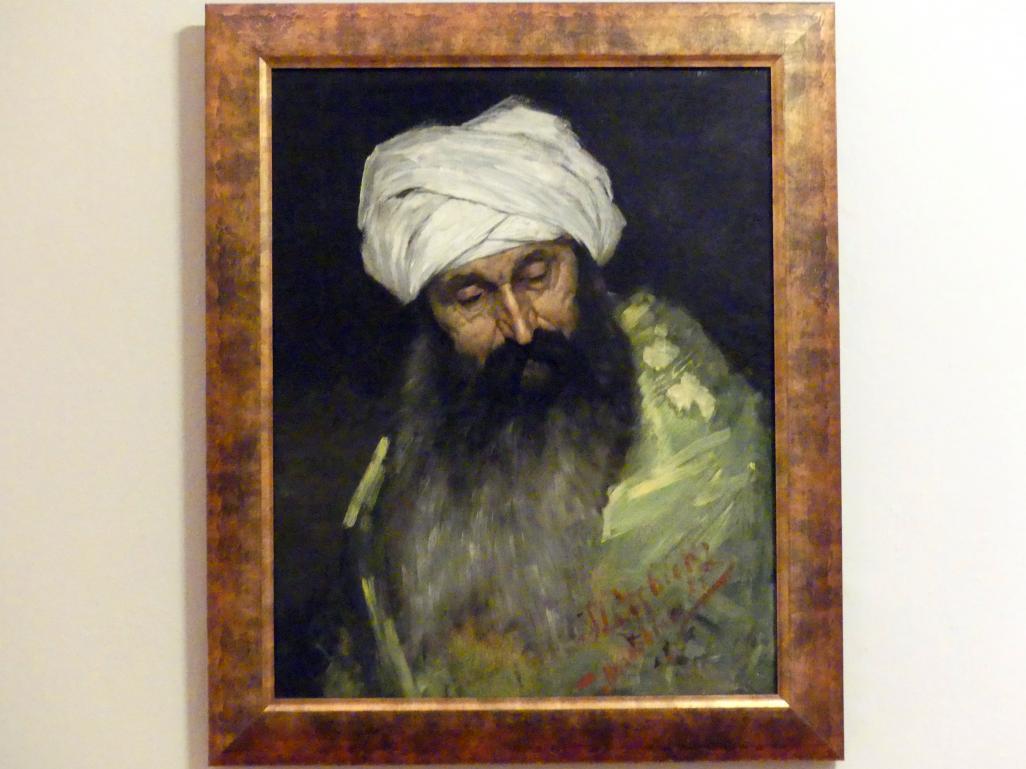 Stanisław Dębicki: Kopfstudie eines Arabers, 1885