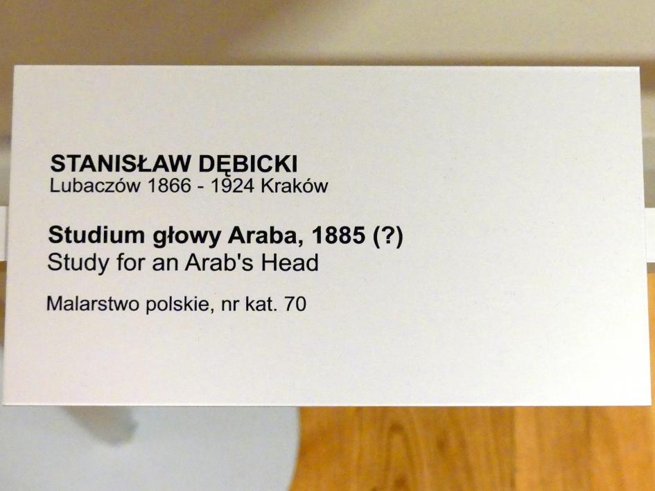 Stanisław Dębicki: Kopfstudie eines Arabers, 1885, Bild 2/2