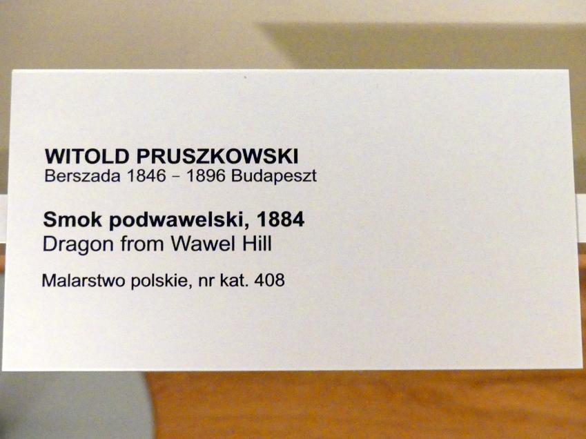 Witold Pruszkowski: Der Drache vom Wawel-Hügel, 1884