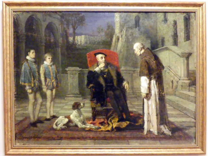 Wilhelm Leopolski: Kaiser Karl V. im Kloster von Yuste, 1879 - 1882