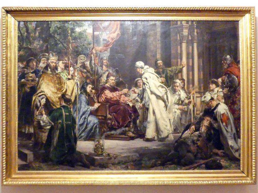 Jan Matejko: Piotr Włast holt die Zisterzienser nach Polen, 1888