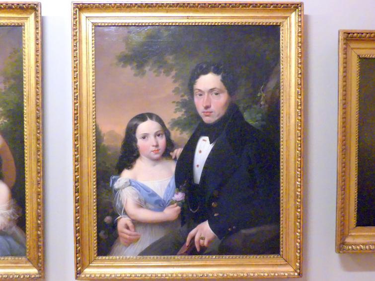 Marcin Jabłoński: Emil Gérard de Festenburg mit seiner Tochter Julia, 1839