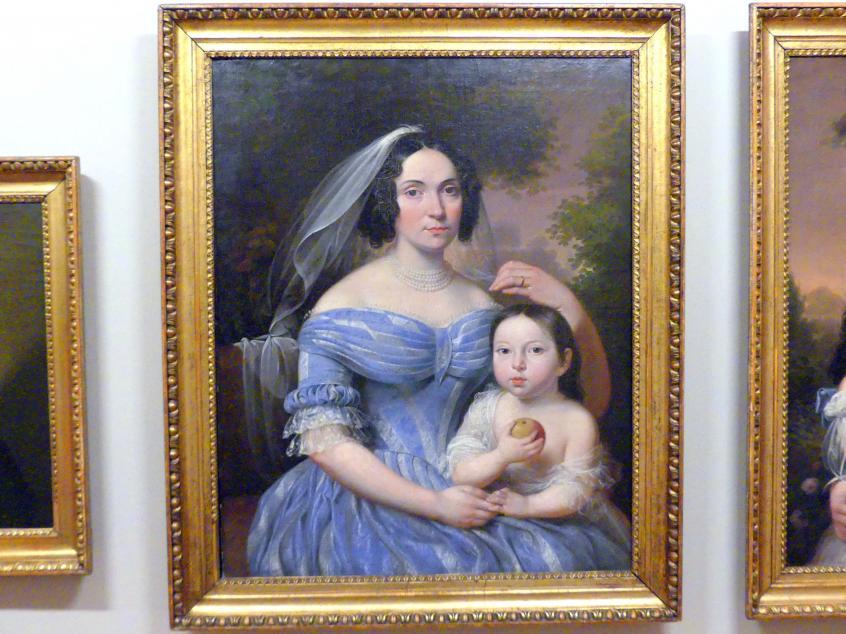 Marcin Jabłoński: Julia Gérard de Festenburg mit ihrer Tochter Karolina, 1839