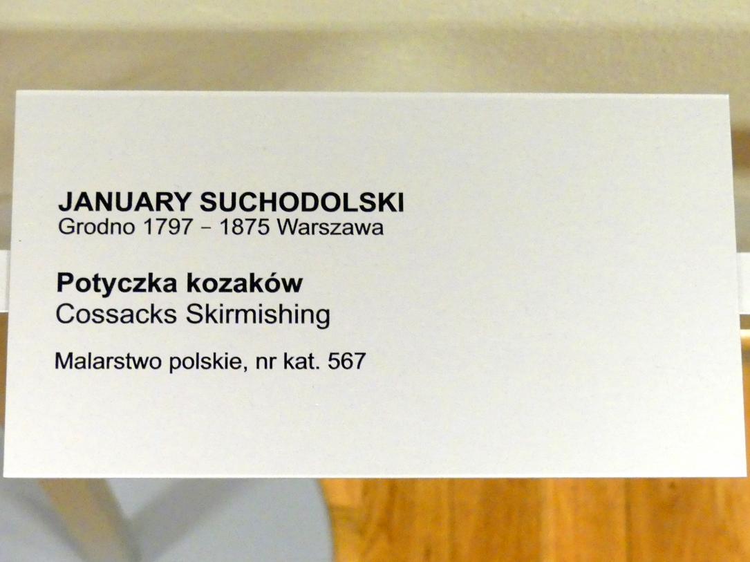 January Suchodolski: Kosaken-Scharmützel, Undatiert