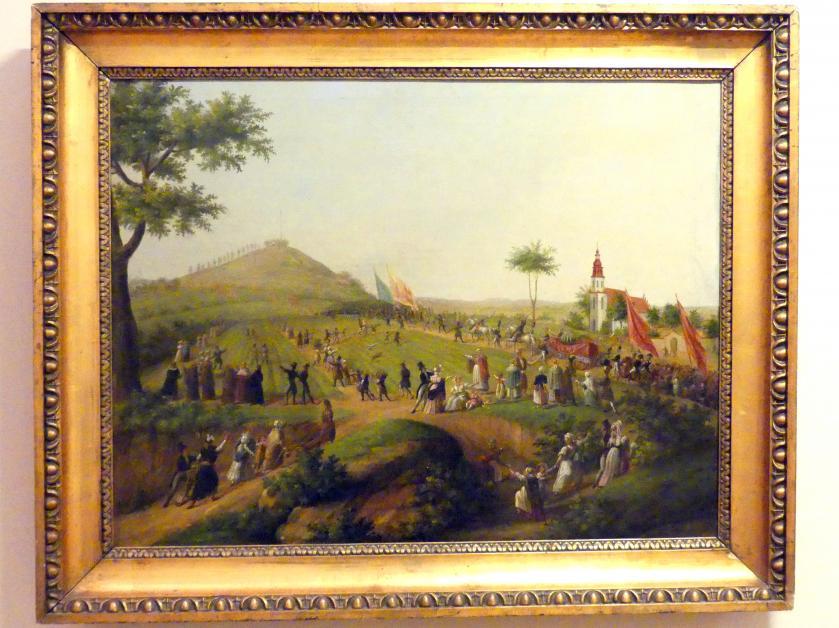 Teodor Baltazar Stachowicz: Der künstliche Kościuszko-Hügel in Krakau, 1859
