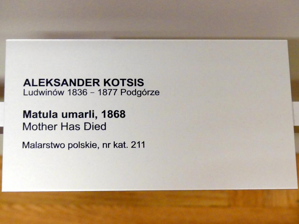 Aleksander Kotsis: Mutter ist gestorben, 1868, Bild 2/2