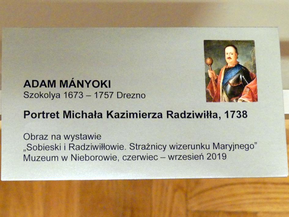 Adam Manyoki: Porträt des Michael Kasimir Radziwiłł (1702-1762), 1738