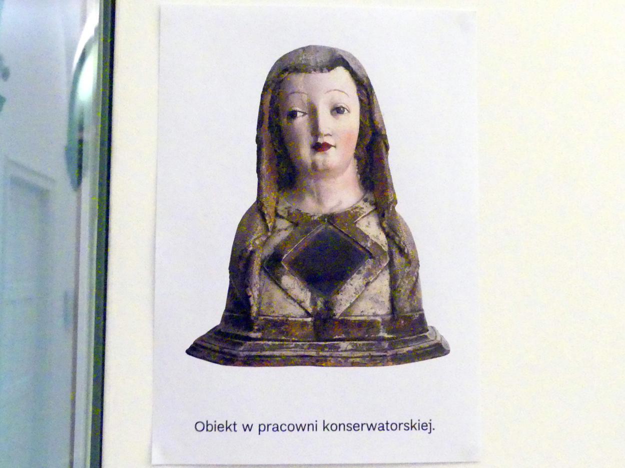 Reliquienbüste einer weiblichen Heiligen, um 1430