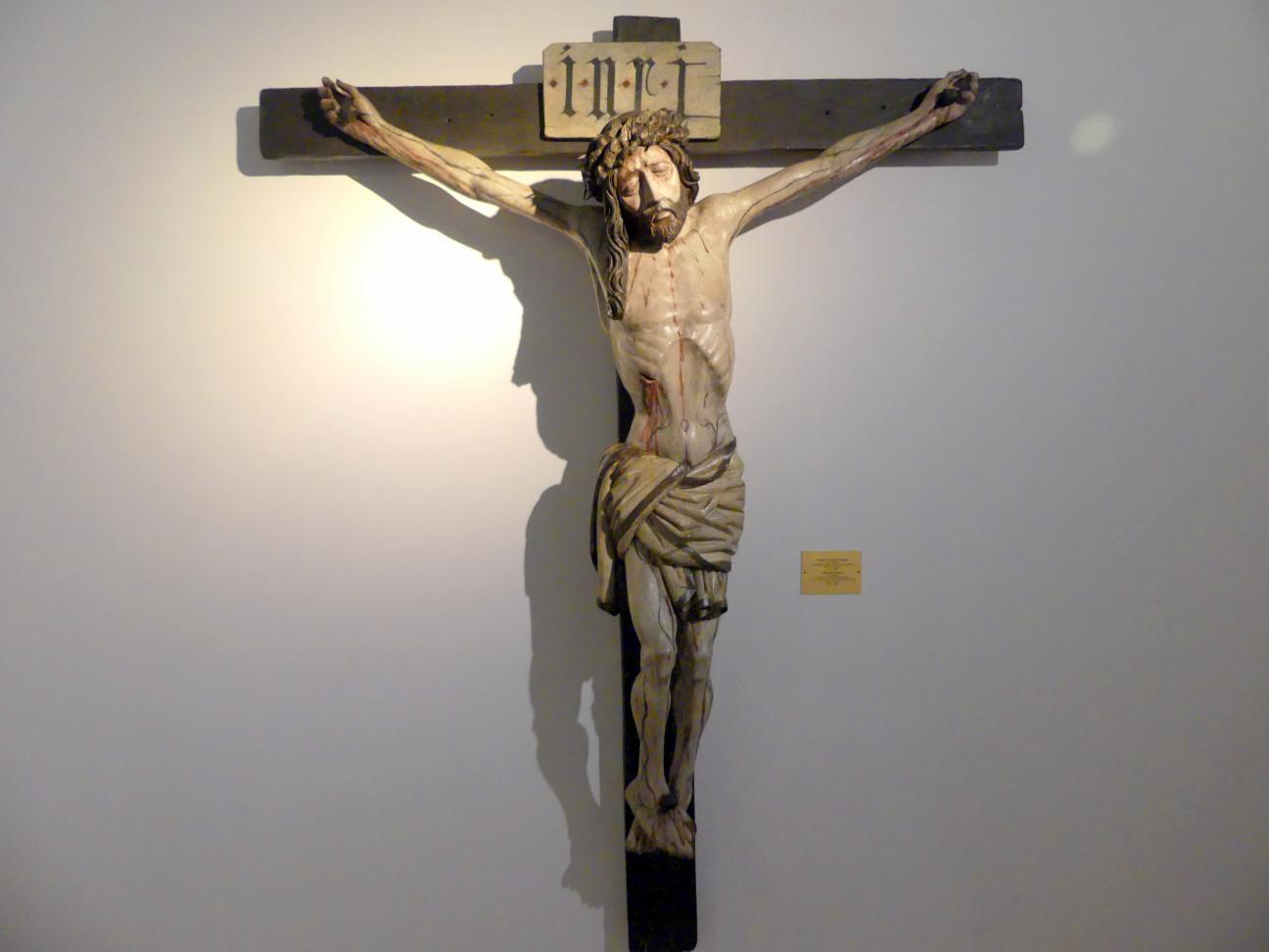 Meister des Verkündigungs-Polyptychons (Umkreis): Gekreuzigter Christus, um 1480