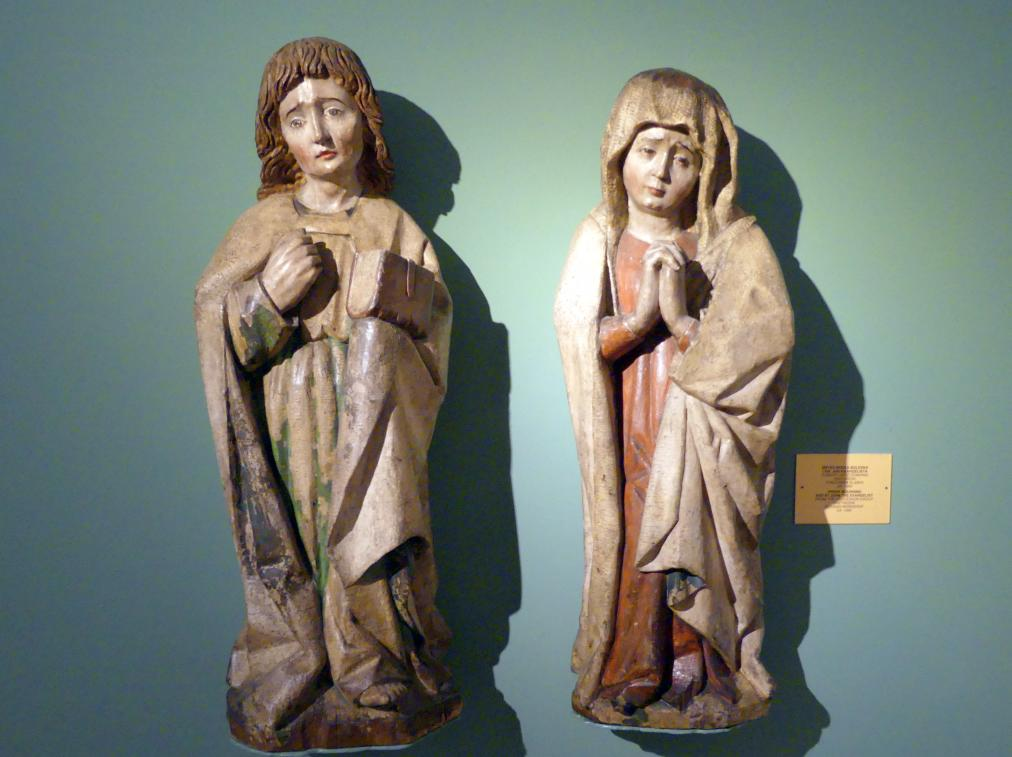 Schmerzhafte Muttergottes und Evangelist Johannes, um 1460