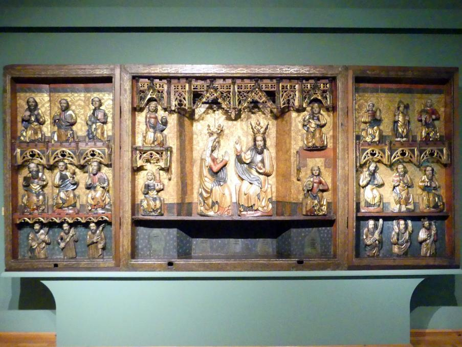 Triptychon Verherrlichung Mariens als Himmelskönigin (Mariä Triumph), 1370 - 1380