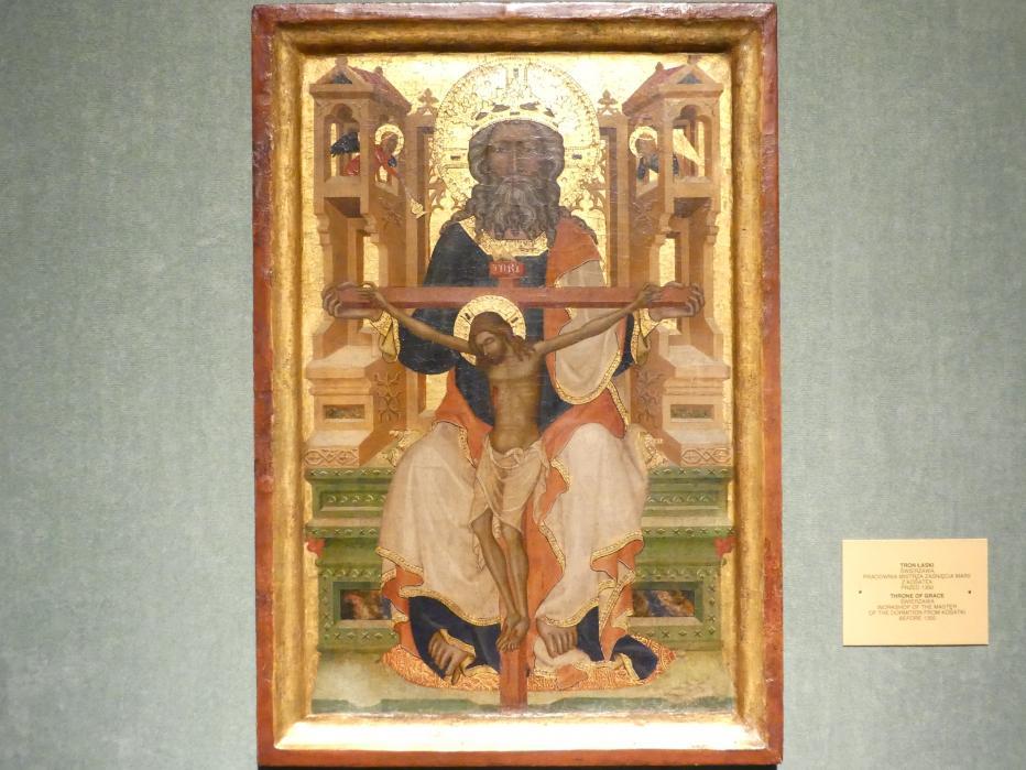 Meister der Entschlafung Mariens von Košatki (Werkstatt): Gnadenstuhl, vor 1350