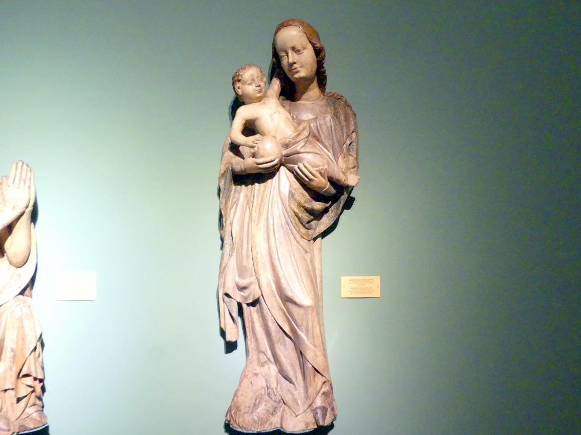 Maria mit Kind auf einem Löwen, Letztes Viertel 14. Jhd.