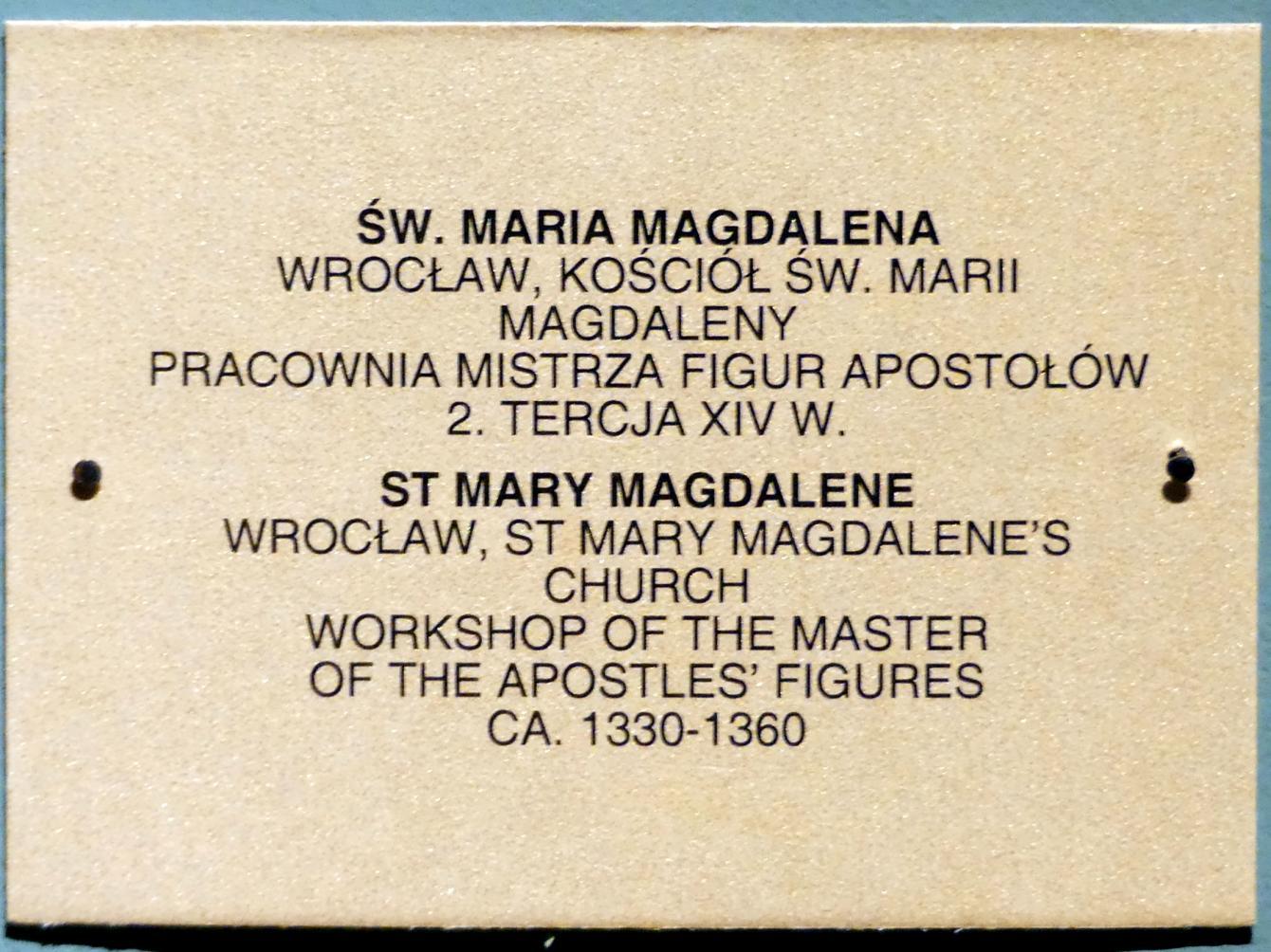 Meister der Apostelfiguren (Breslau) (Werkstatt): Heilige Maria Magdalena, 2. Drittel 14. Jhd., Bild 3/3