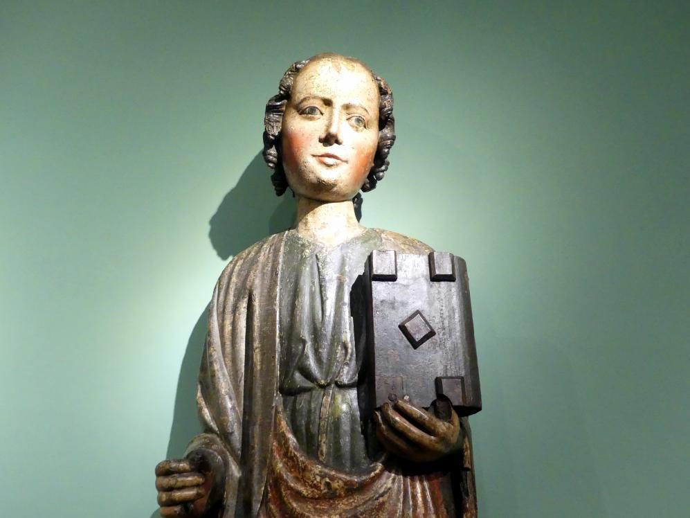 Meister der Apostelfiguren (Breslau) (Werkstatt): Evangelist Johannes, 2. Drittel 14. Jhd., Bild 2/3