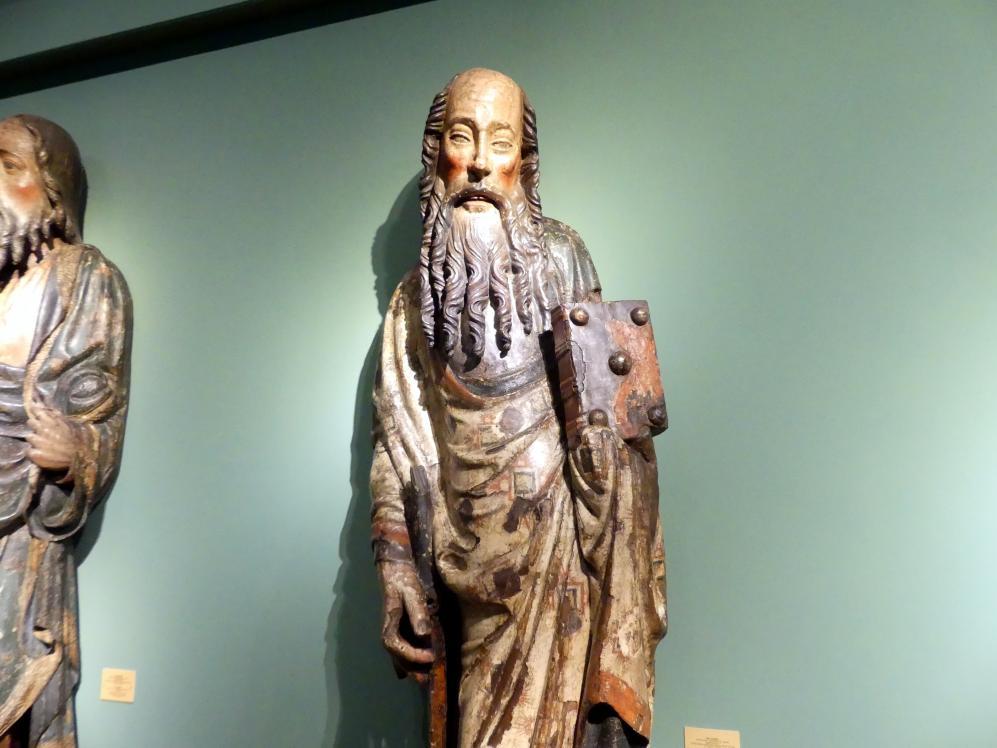 Meister der Apostelfiguren (Breslau) (Werkstatt): Apostel Paulus, 2. Drittel 14. Jhd., Bild 2/3