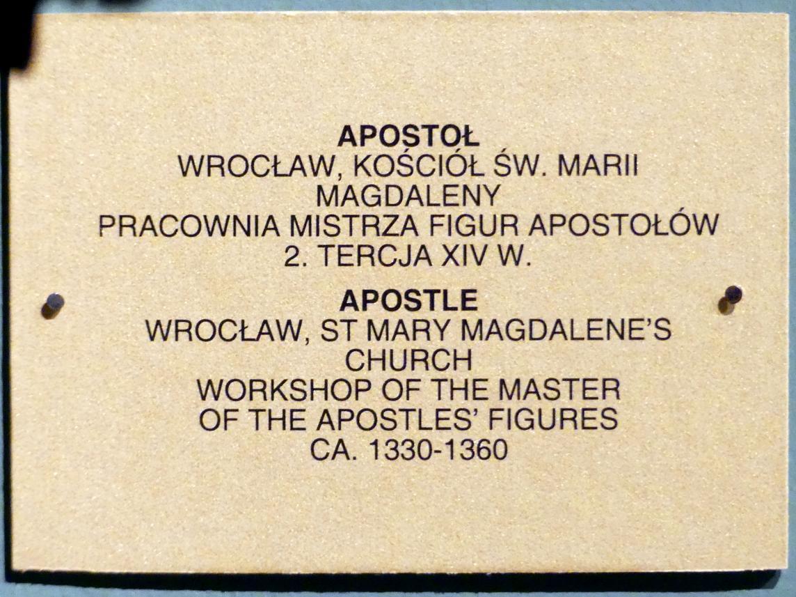 Meister der Apostelfiguren (Breslau) (Werkstatt): Apostel, 2. Drittel 14. Jhd.