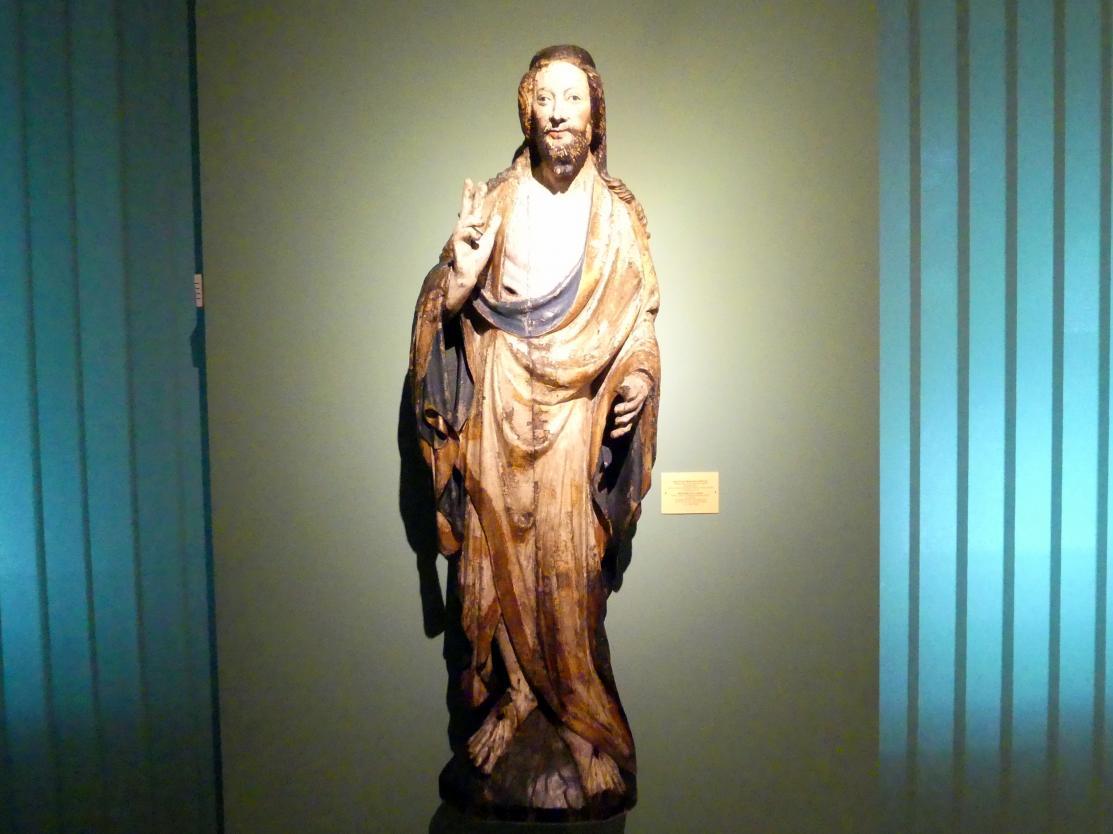 Meister der Apostelfiguren (Breslau) (Werkstatt): Auferstandener Christus, 2. Drittel 14. Jhd.