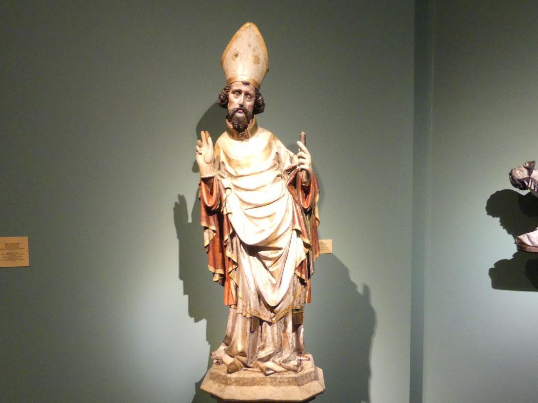 Meister des Teyner Kalvarienbergs: Heiliger Bischof, um 1400