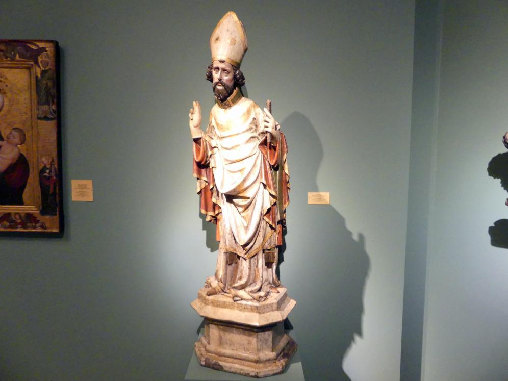 Meister des Teyner Kalvarienbergs: Heiliger Bischof, um 1400, Bild 2/4