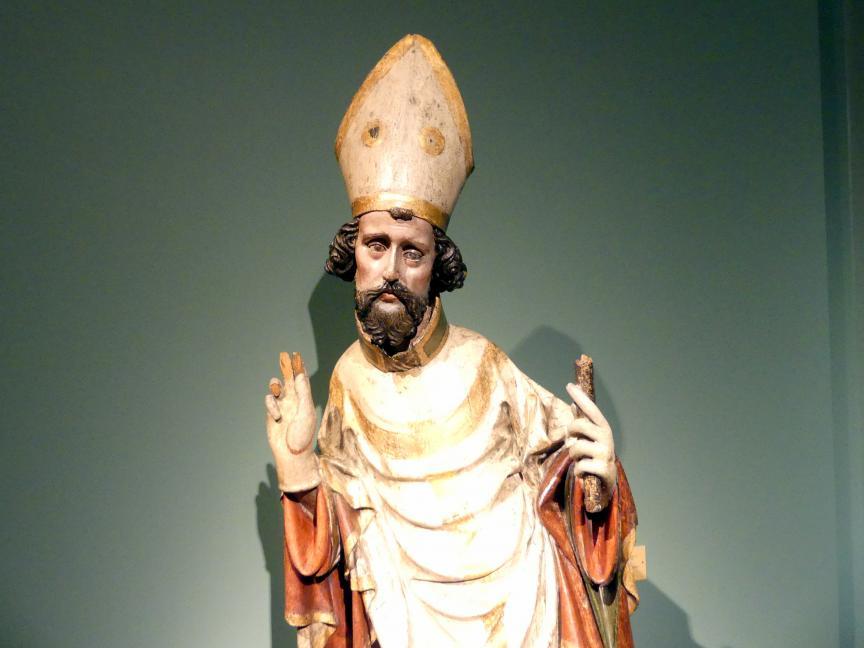 Meister des Teyner Kalvarienbergs: Heiliger Bischof, um 1400, Bild 3/4