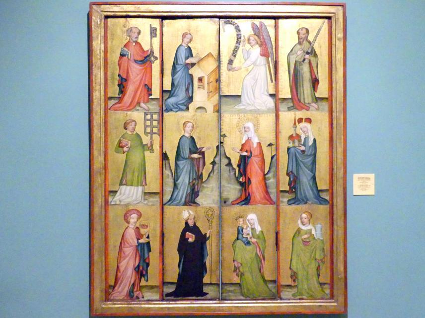 Heiligenfiguren, Mariä Verkündigung und Heimsuchung, 1420 - 1430
