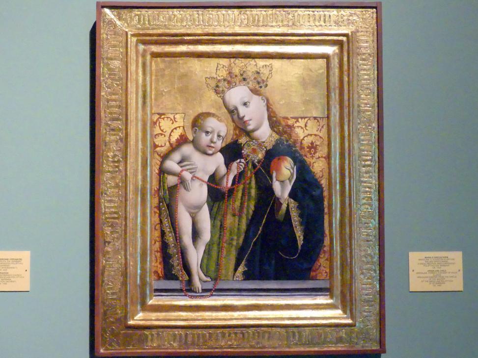 Wilhelm Kalteysen (Umkreis): Maria mit Kind, um 1450