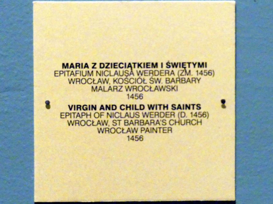 Maria mit Kind und Heiligen, 1456