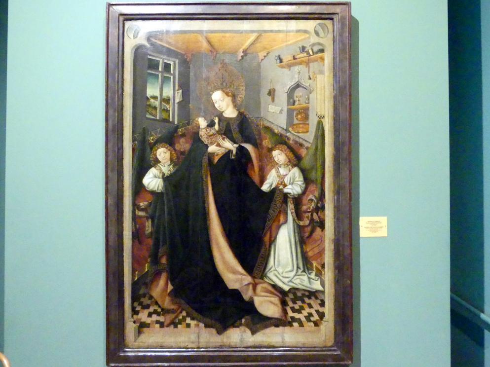 Wilhelm Kalteysen (Umkreis): Maria mit Kind in einer Kammer, um 1450