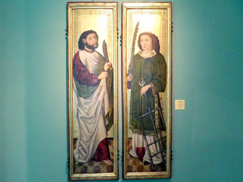 Meister des Liegnitzer Polyptychons der Jungfrau Maria und der hll. Peter und Paul (Werkstatt): Hll. Bartholomäus und Laurentius, 1473