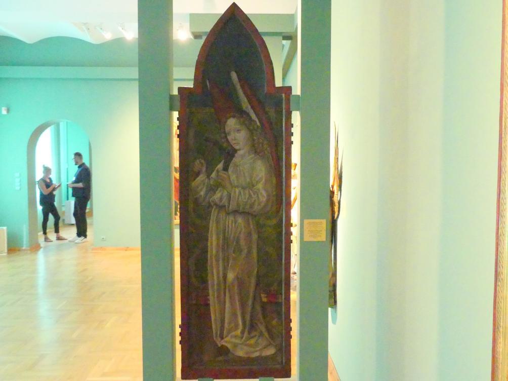 Meister des Liegnitzer Polyptychons der Jungfrau Maria und der hll. Peter und Paul (Werkstatt): Engel mit Hammer und Nägeln, 1473