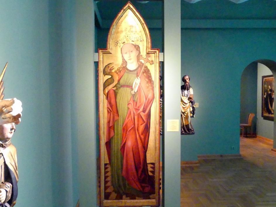 Meister des Liegnitzer Polyptychons der Jungfrau Maria und der hll. Peter und Paul (Werkstatt): Heilige Margareta, 1473