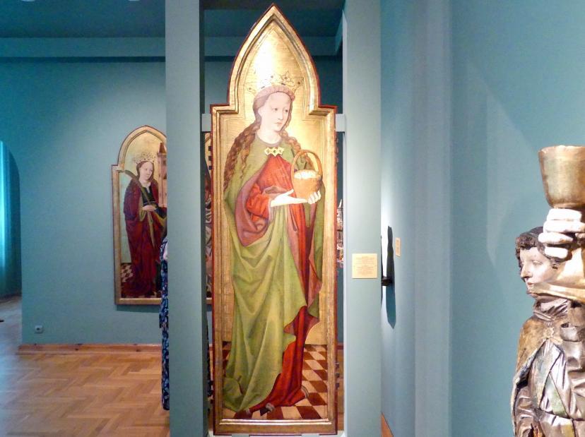 Meister des Liegnitzer Polyptychons der Jungfrau Maria und der hll. Peter und Paul (Werkstatt): Heilige Dorothea, 1473