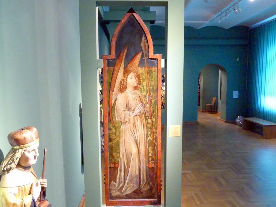 Meister des Liegnitzer Polyptychons der Jungfrau Maria und der hll. Peter und Paul (Werkstatt): Engel mit Speer, 1473