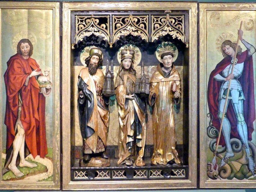 Meister des Verkündigungs-Polyptychons (Werkstatt): Triptychon der Heiligen Hedwig, 1470 - 1480, Bild 3/5