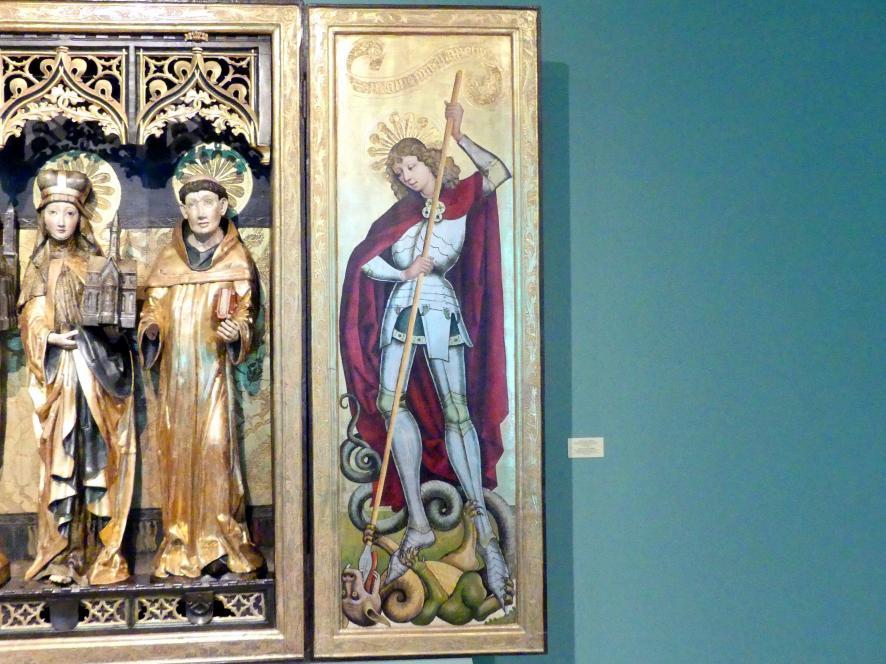 Meister des Verkündigungs-Polyptychons (Werkstatt): Triptychon der Heiligen Hedwig, 1470 - 1480, Bild 4/5