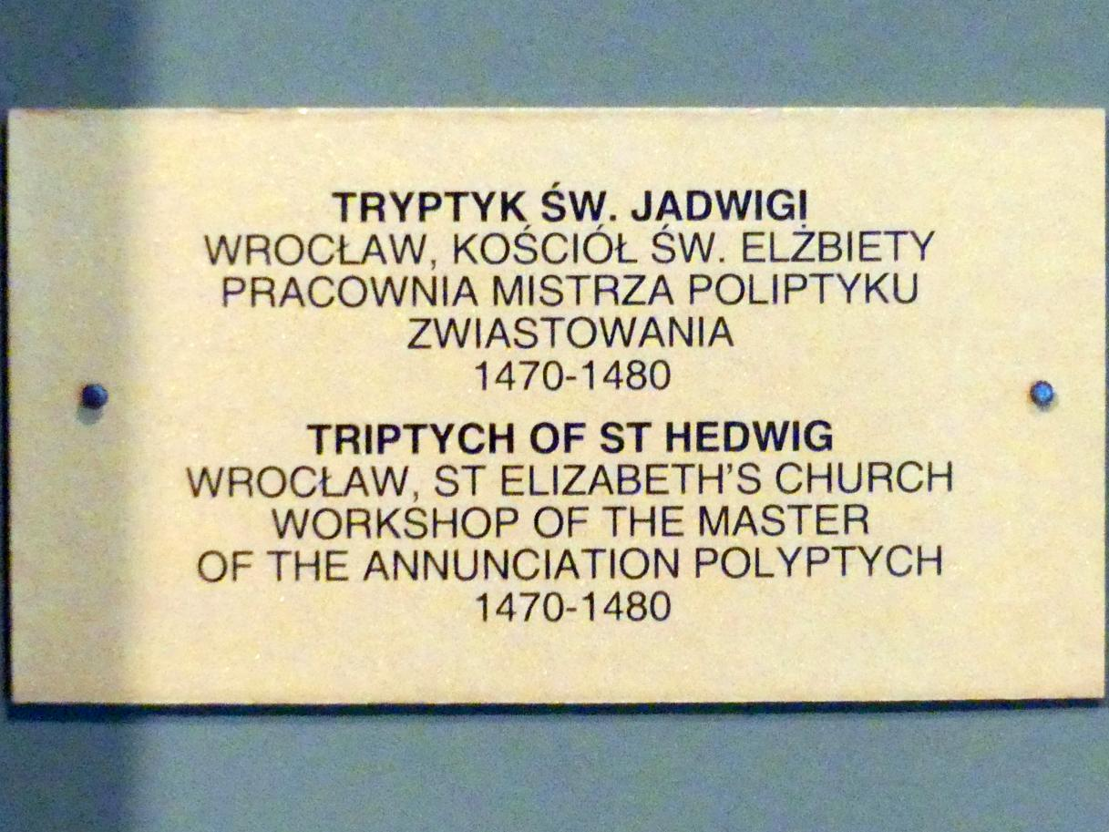 Meister des Verkündigungs-Polyptychons (Werkstatt): Triptychon der Heiligen Hedwig, 1470 - 1480, Bild 5/5