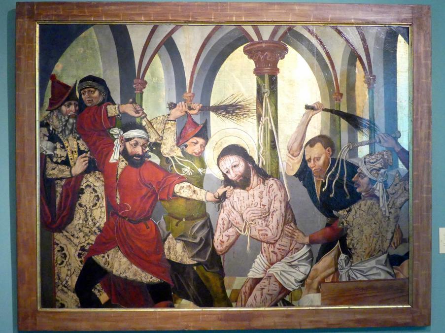 Meister von 1486-1487 (Meister der Jahreszahlen) (Werkstatt): Geißelung Christi, 1485 - 1487