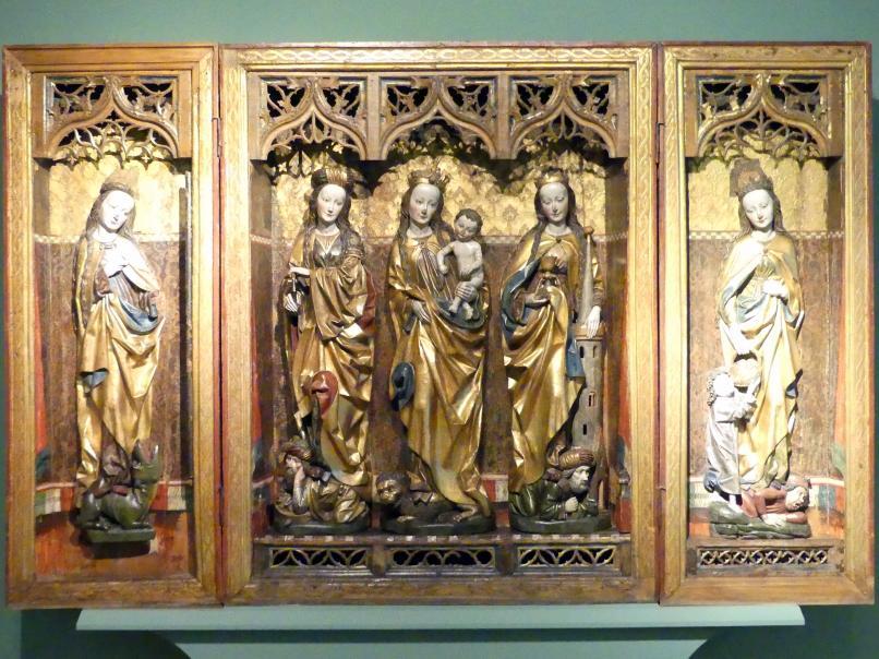 Triptychon der Heiligen Jungfrauen, vor 1495
