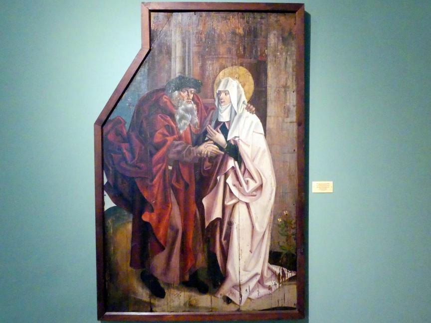 Breslauer Meister der Heiligen Familie: Treffen von Joachim und Anna am Goldenen Tor, Ende 15. Jhd.