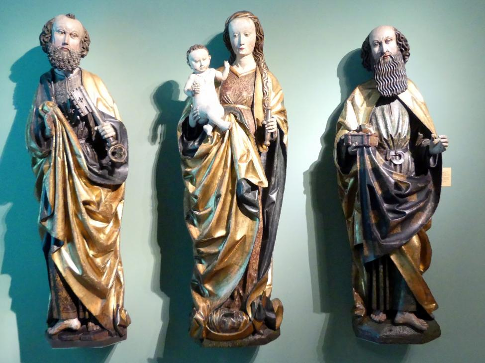 Hl. Petrus, Maria mit Kind, Hl. Paulus, 1492 - 1493