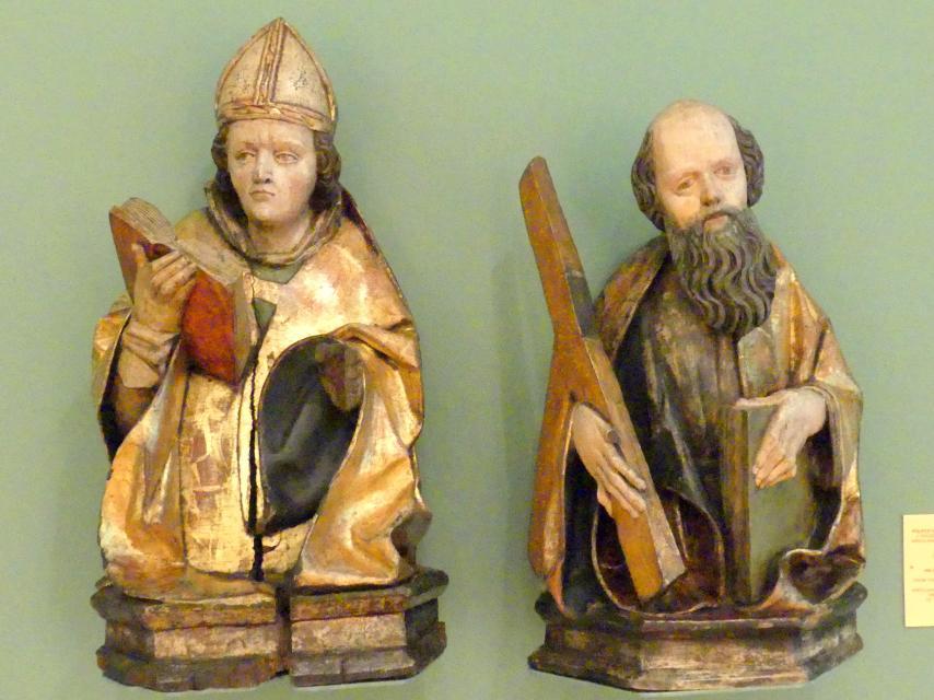 Halbfiguren eines heiligen Bischofs und dem Heiligen Andreas, 1497