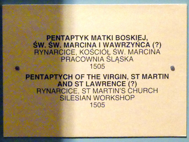 Flügelaltar Maria mit Kind, Hll. Martin und Lauentius (?), 1505, Bild 6/6