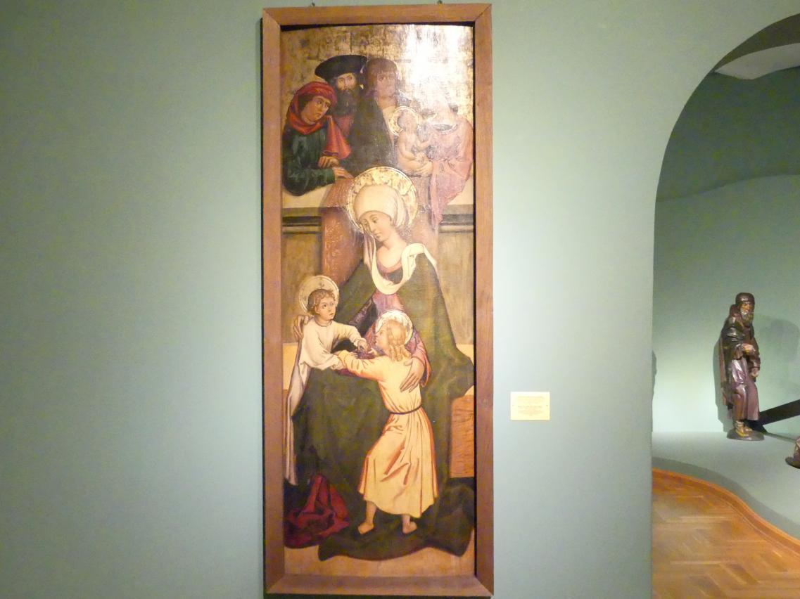 Maria Salome mit ihren Söhnen Apostel Jakobus dem Älteren und Apostel Johannes, 1505