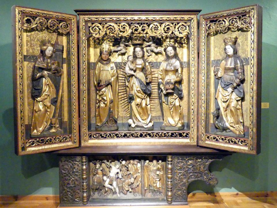 Flügelaltar mit Maria und den hll. Severin und Dorothea, 1523