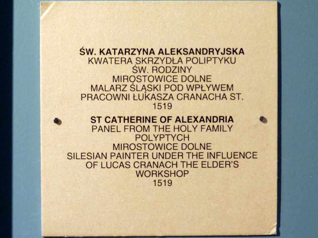 Heilige Katharina aus Alexandrien, 1519