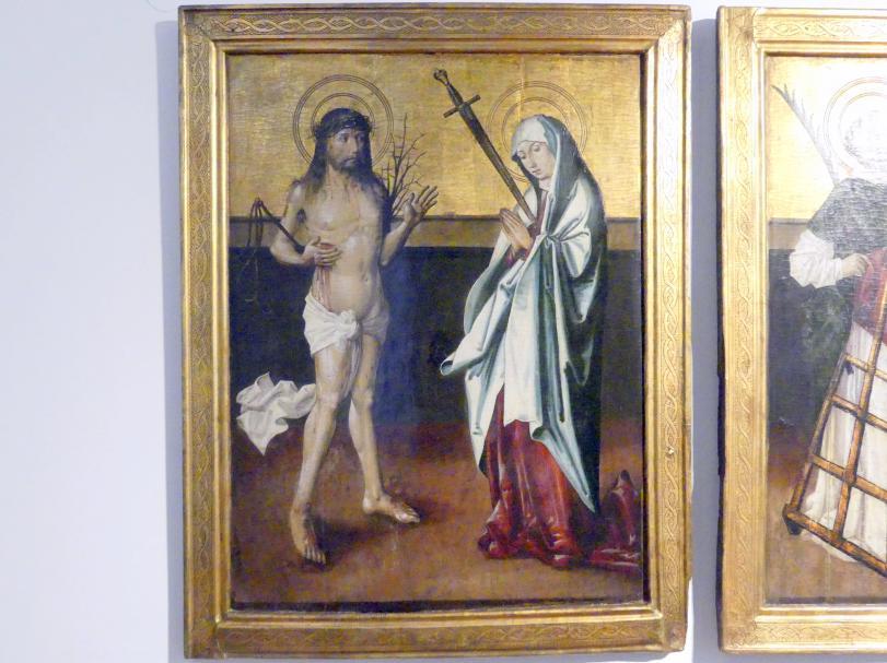Tafeln eines Flügelaltars Christus als Schmerzensmann und Schmerzhafte Muttergottes, um 1500
