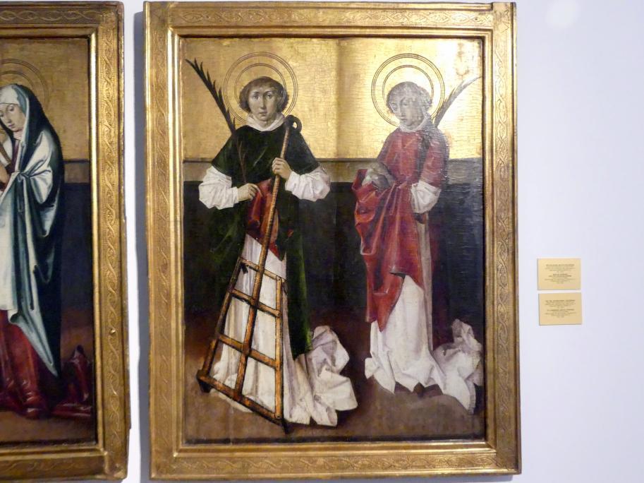 Tafeln eines Flügelaltars Hl. Laurentius und Hl. Stephanus, Um 1500